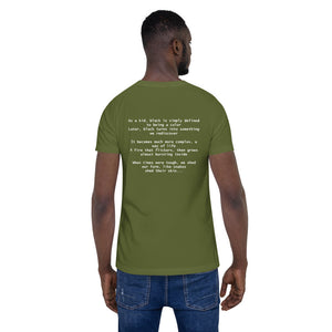 Culture Rediscovered Stanza I (on the back) Unisex T-Shirt