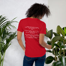 Culture Rediscovered Stanza II (on the back) Unisex T-Shirt