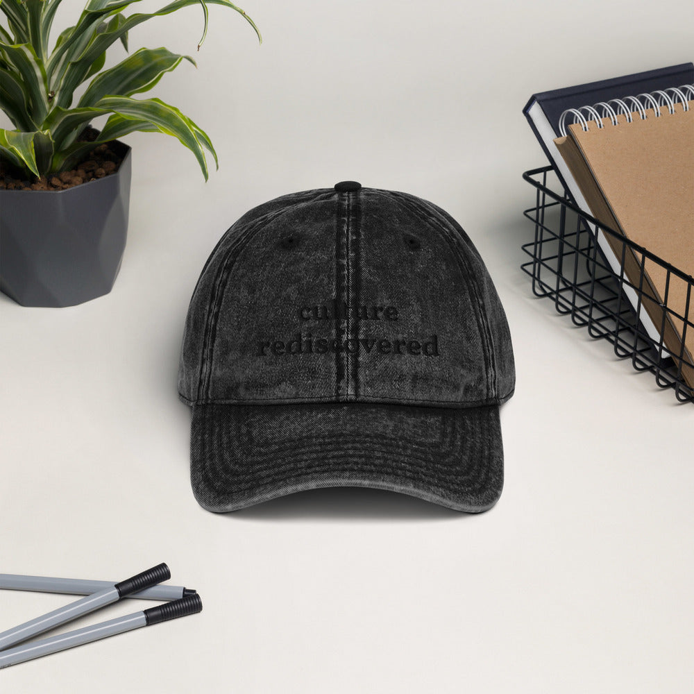 Culture Rediscovered Vintage Cotton Twill Cap