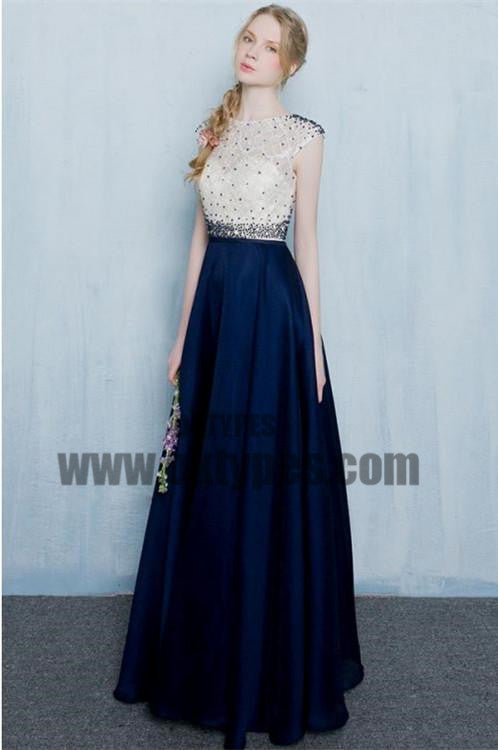 Long Floor Length Prom Dresses, Beading Prom Dresses, Zipper Prom Dresses, Jewel Prom Dresses, TYP0236