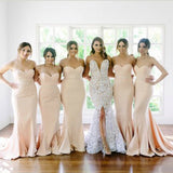 New Arrival Sweet Heart Mermaid Sexy Long Wedding Party Dresses For Maid of Honor, TYP0133