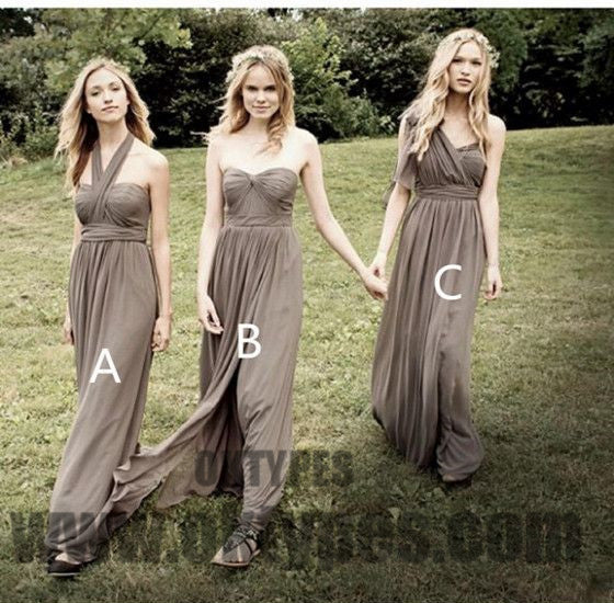 Long Floor Length Bridesmaid Dresses, Charming Bridesmaid Dresses, Cheap Bridesmaid Dresses, TYP0343