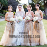 Gorgeous Sweetheart Long Lace Dresses for Maid of Honor, Cheap Wedding Guest Dress, TYP0430