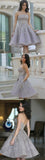 Popular Grey strapless Gorgeous  A-line homecoming prom gown dress, TYP0169