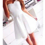 Hot Selling white sweetheart simple freshman homecoming prom dresses, TYP0088