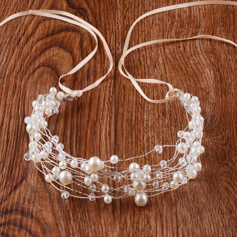 Charming Pearls Wedding Headpiece With Headband, Wedding Accessories, Wedding Headpiece, VB0595