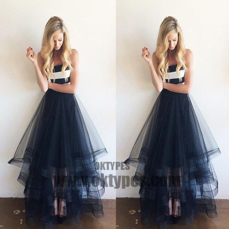 A-line Long Tulle Prom Dresses, Sweetheart Prom Dresses, Prom Dresses, TYP0452