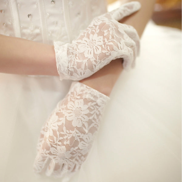 Wedding Gloves, Lace Wedding Gloves, Short Gloves, TYP0533