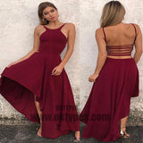 Long Asymmetrical Prom Dresses, Halter Prom Dresses, Backless Prom Dresses, Charming Prom Dresses, TYP0308