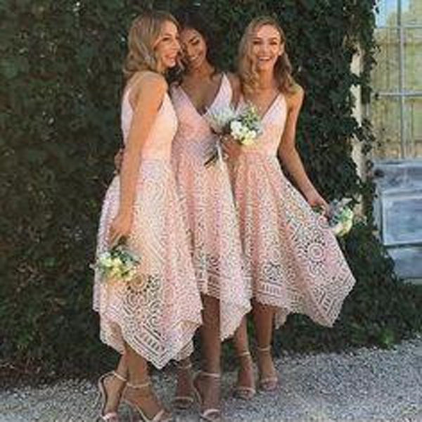 Unique Lace Bridesmaid Dresses, Lovely Wedding Guest Dresses, Bridesmaid Dresses,  TYP0311
