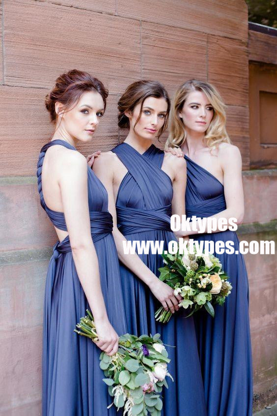 2018 Soft Cheap Custom Popular Bridesmaid Dress, Long Convertible Bridesmaid Dresses, TYP0833