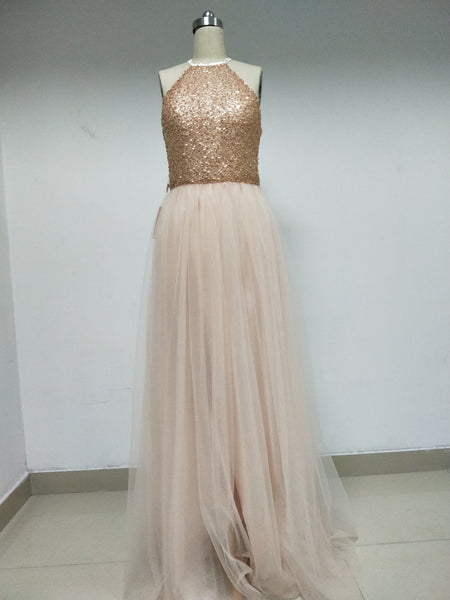 Sequin Tulle Prom/Bridesmaid Dresses_US4, SO004