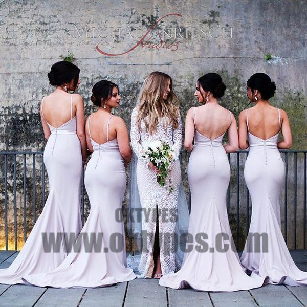 Spaghetti Sweetheart Backless Mermaid Popular Wedding Guest Bridesmaid Dresses, TYP0429