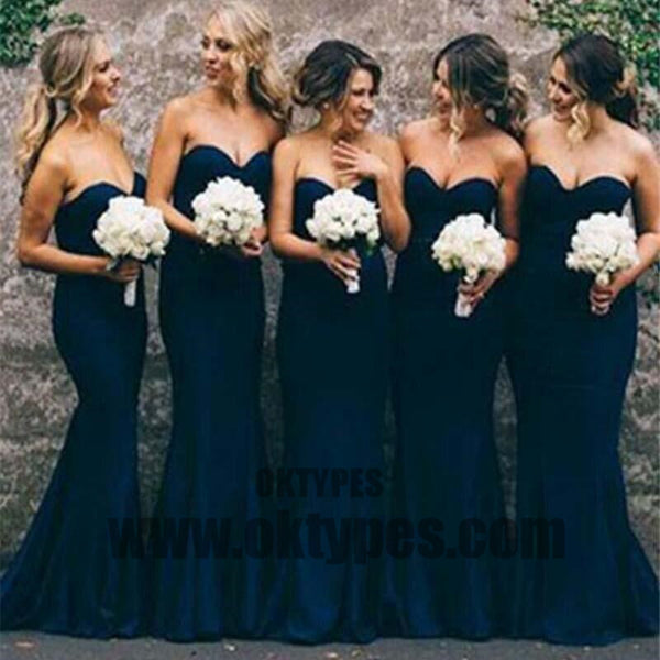 Women Elegant Sweetheart Cheap Mermaid Long Bridesmaid Dresses, Beautiful Bridesmaid Dresses, TYP0341
