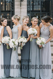 Long Floor Length Chiffon Bridesmaid Dresses, Cheap Bridesmaid Dresses, Charming Bridesmaid Dresses, TYP0342