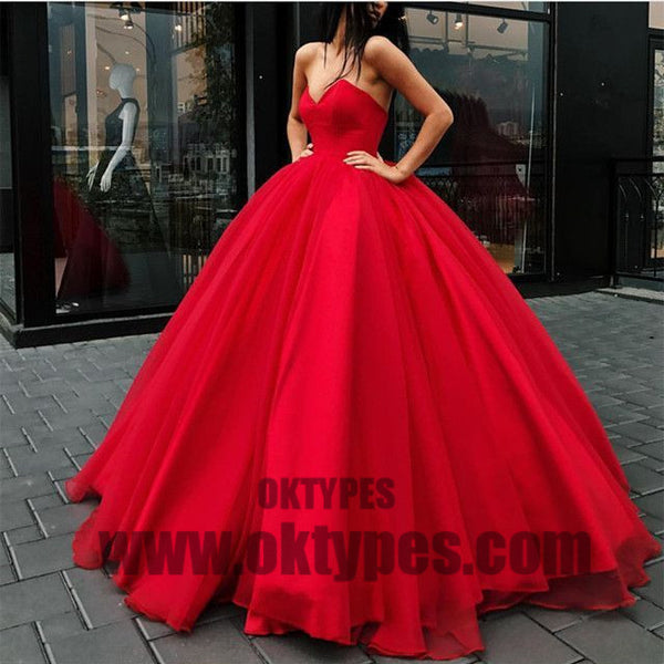 2018 Newest Prom Dresses, Long Floor Length Ball Gown Prom Dresses, Sweetheart Prom Dresses, Lace Up Prom Dresses,  TYP0328
