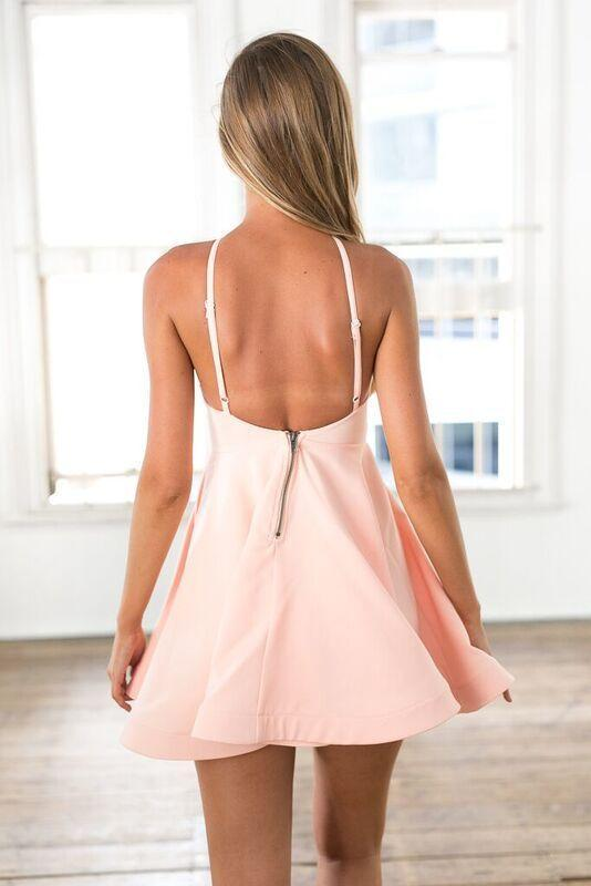 Cheap Simple Hater Pink Short Homecoming Dresses 2018, CM506