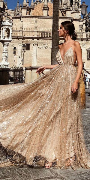 2019 Sparkly Sequin Sexy Fashion Spaghetti Straps Prom Dresses, Shinning Unique Long Gorgeous Evening Dresses, TYP1161