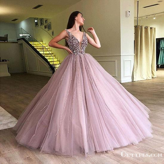2019 A-line Elegant Sparkly Gorgeous Princess Prom Gown, Purple Stunning Prom dresses, wedding Gown, TYP1162