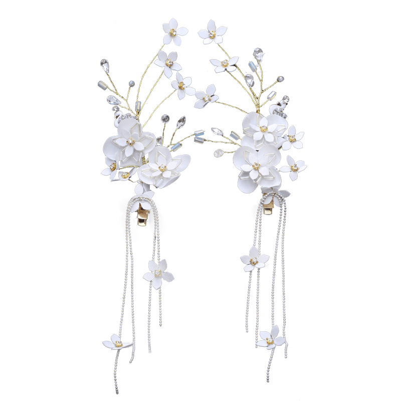 Elegant White Flowers Wedding Headpiece, Wedding Headpiece, VB0608