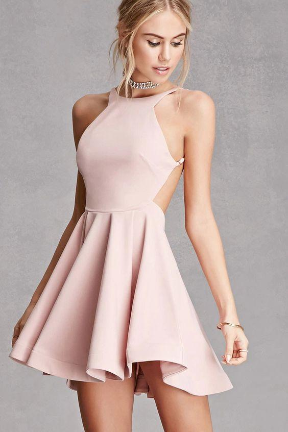 Sexy Backless Pink Cheap 2018 Homecoming Dresses Under 100, CM400