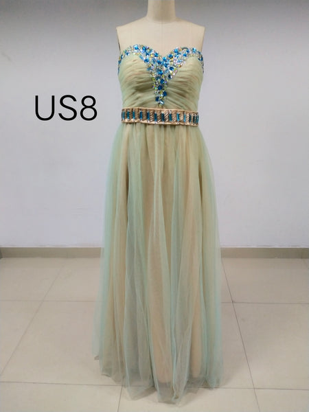 Sweetheart Long Cheap Tulle Prom Dresses With Beaded_US8, SO027