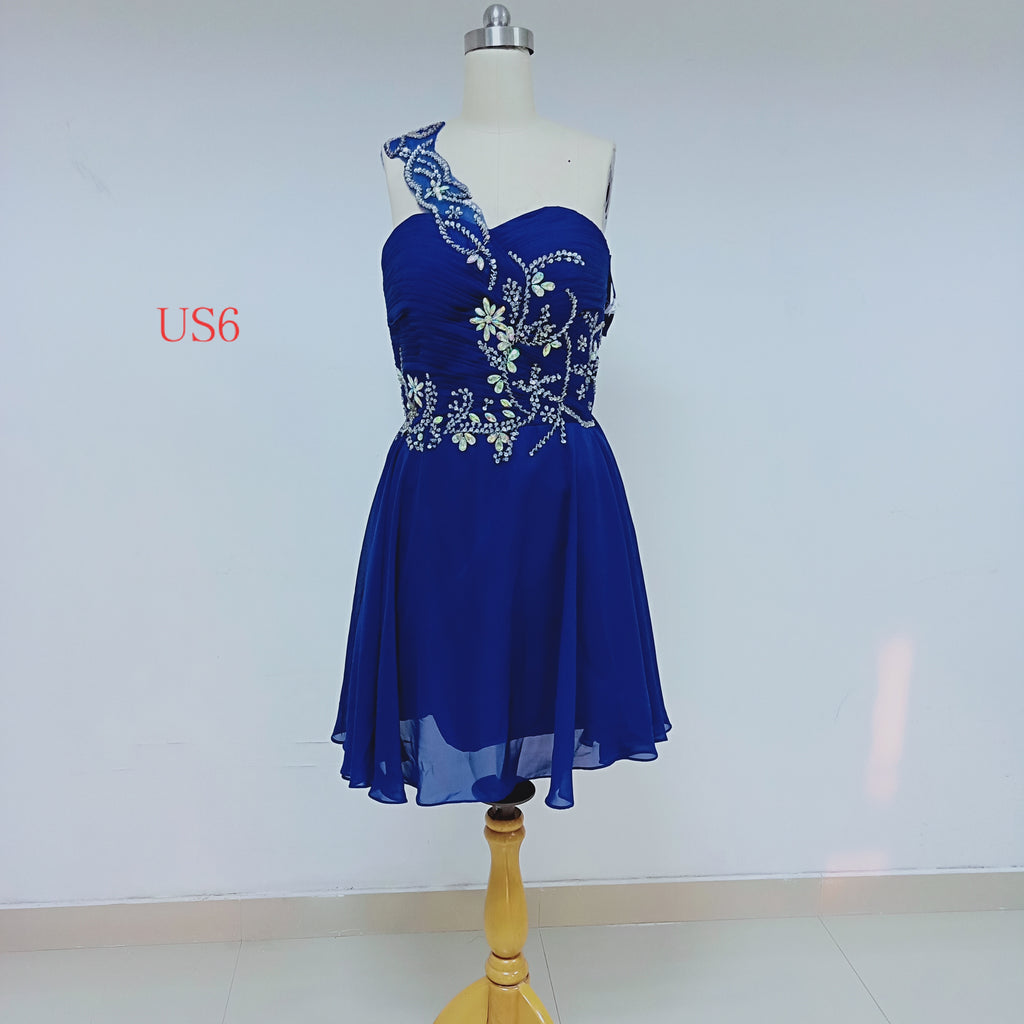 Royal Blue Chiffon Homecoming Dresses With Beaded_US6, SO033