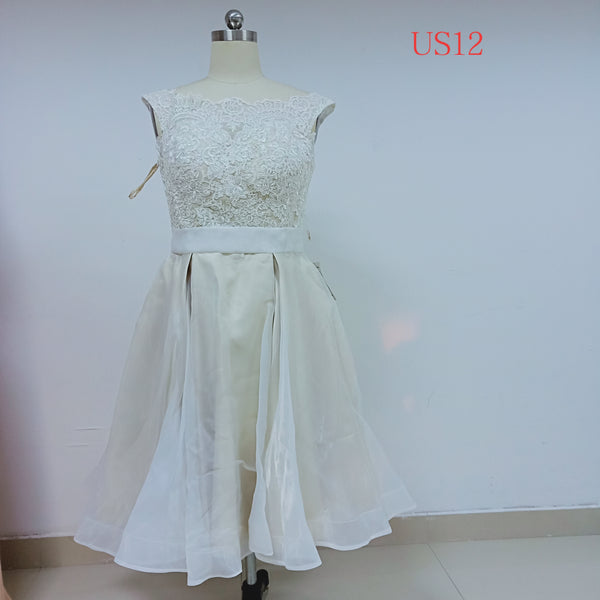 Ivory Tulle Short Homecoming Dresses_US12, SO034