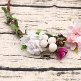 White Flower Wedding Headpieces With Beads, Wedding Headpieces, Wedding Accessories, TYP1256