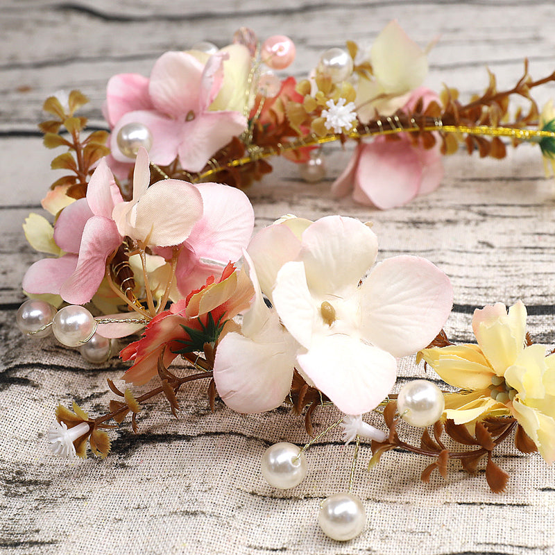 White Flower Wedding Headpieces With Beads, Wedding Headpieces, Wedding Accessories, TYP1259