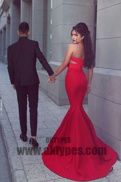 Red Long Mermaid Prom Dresses, Sweetheart Prom Dresses, Zipper Prom Dresses, Sexy Prom Dresses, TYP0219