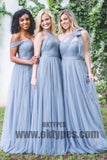 Light Blue Tulle Bridesmaid Dresses, Charming Bridesmaid Dresses, Popular Bridesmaid Dresses, TYP0365