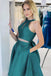 Simple Round Neck Green Satin A-line Cheap Short Homecoming Dresses, HDS0039
