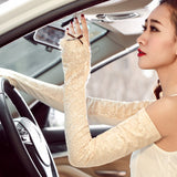 Long Bridal Gloves, Lace Wedding Gloves, Gloves With Bow, Lovely Gloves, TYP0563