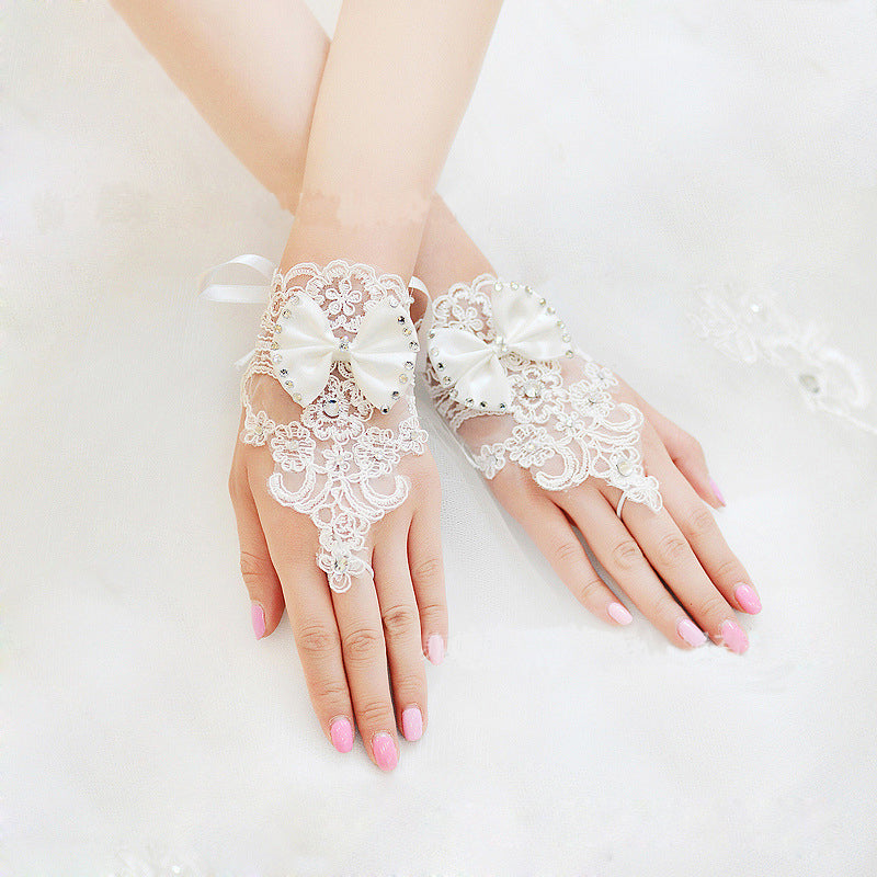 White Bridal Lace Wedding Gloves,Bridal Fingerless Lace Wedding Gloves,Bridal Accessories, TYP0566