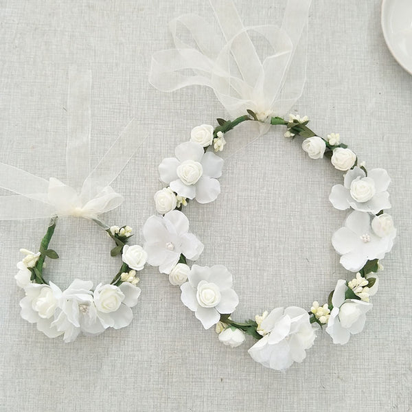 White Flower Wedding Headpieces With Beads, Wedding Headpieces, Wedding Accessories, TYP1257