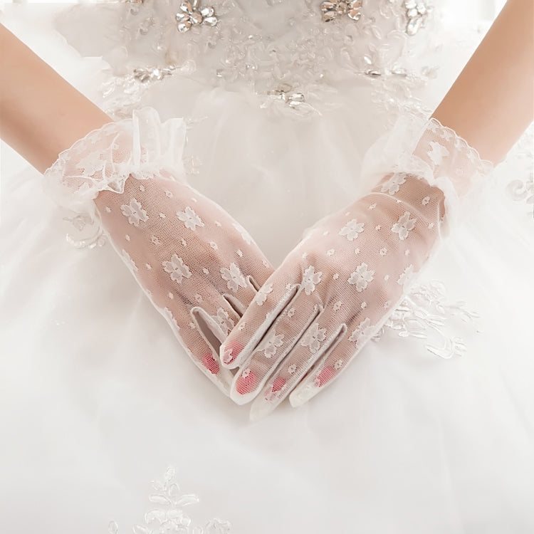 Ivory lace gloves, lace gloves, Wedding gloves, bridal gloves, short gloves, lace bridal gloves, TYP0551