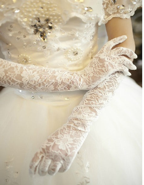 Long Lace Gloves, Long White Gloves, Long Wedding Gloves, Long Bridal Gloves, Long Gloves, Wedding Gloves, Bridal Gloves, Lace Bridal Gloves, TYP0559