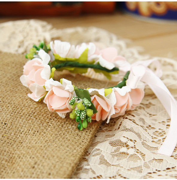 White Flower Wedding Headpieces With Beads, Wedding Headpieces, Wedding Accessories, TYP1254