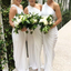 Tight One Shoulder Long Cheap White Ruched Chiffon Bridesmaid Dresses Online, TYP1174
