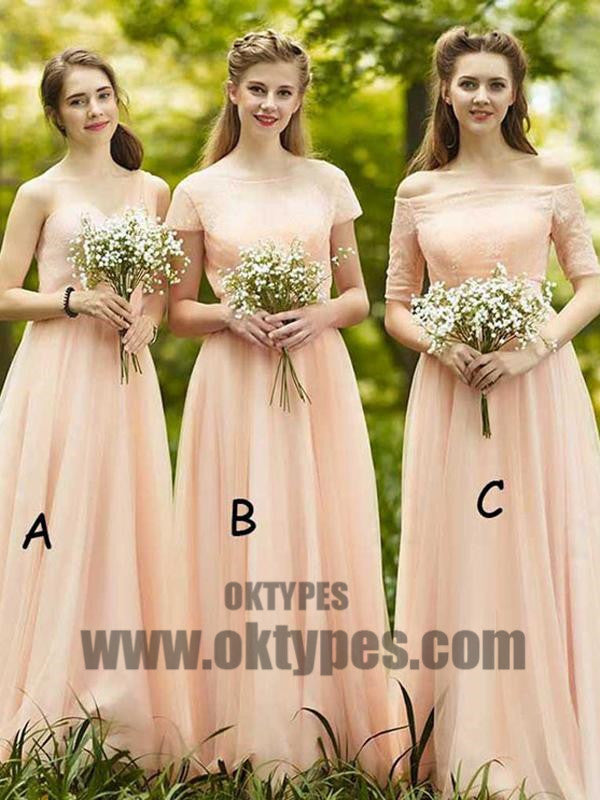 2018 Bridesmaid Dresses One Shoulder Floor-length Cheap Simple Bridesmaid Dresses, TYP0380