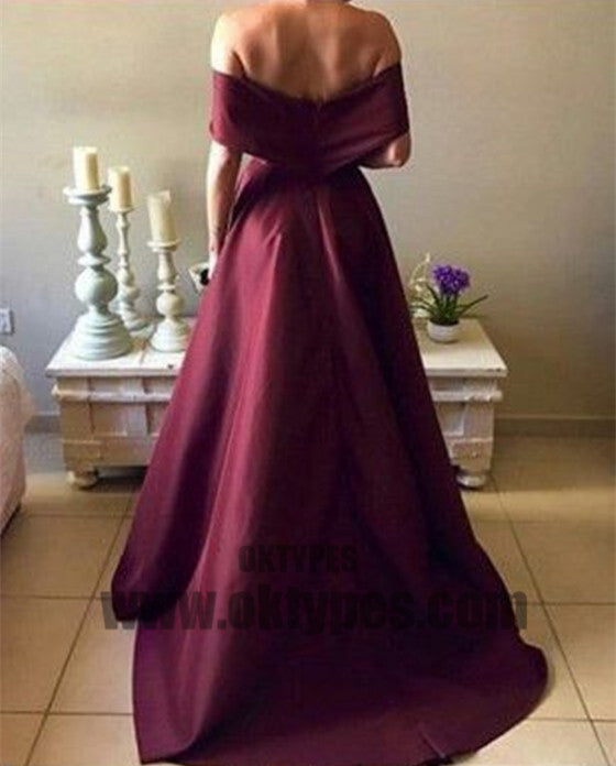 Long Mermaid Prom Dresses, Off-shoulder Prom Dresses, Backless Prom Dresses, Charming Prom Dresses, TYP0349