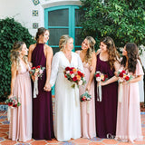 Mismatched Charming Cute  Chiffon Long Cheap Wedding Party Bridesmaid Dresses, TYP2047