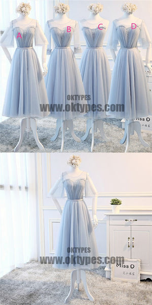 Mismatch Top Lace Tulle Bridesmaid Dresses, Pretty Bridesmaid Dresses, TYP0595