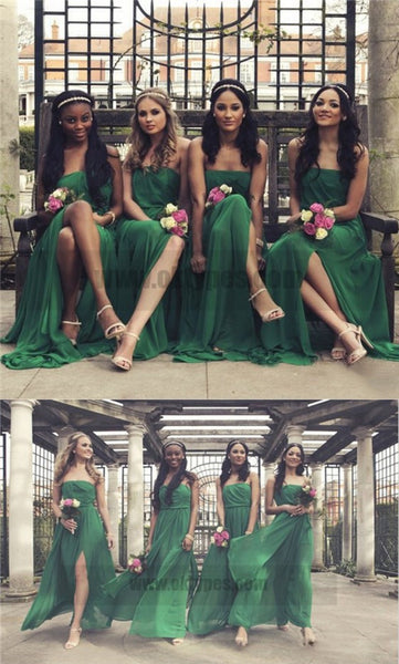 Green Custom Made Chiffon Bridesmaid Dresses, Sweetheart Bridesmaid Dresses, TYP0772