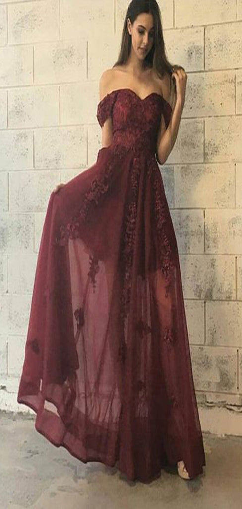 Off the Shoulder Elegant Sweetheart Charming Cheap Long Prom Dresses, TYP1394