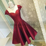Sexy Backless Cap Sleeves Short Red Homecoming Dresses Online, TYP0821