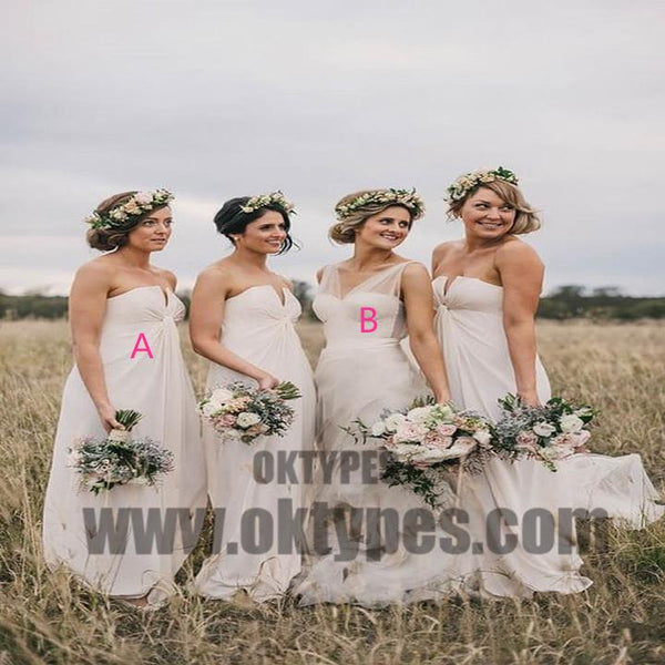 Mismatched Cheap Chiffon Sweetheart Formal Custom Make Bridesmaid Dresses, Bridesmaid Gown, TYP0488