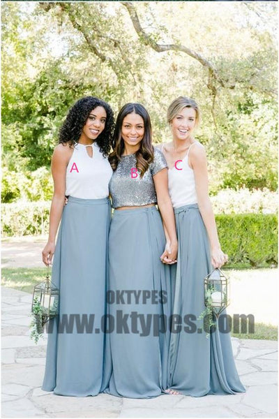 Long Sweetheart Backless Chiffon Bridesmaid Dresses, Charming Bridesmaid Dresses, TYP0592