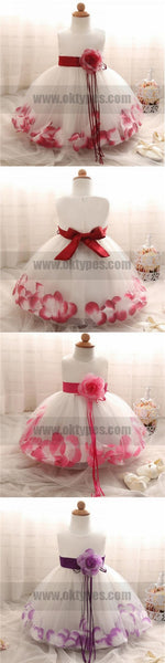 Beautiful Handmade Lovely Flower Girl Dresses, Cheap Little Girl Dresses with Flowers, TYP0830